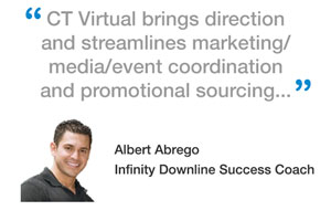 CT Virtual brings direction and streamlines marketing/media/event coordination and promotional sourcing...